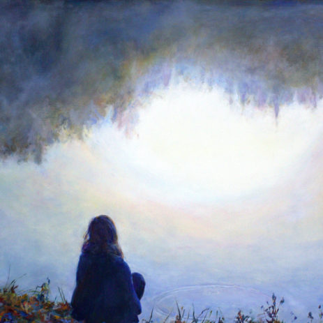 "Nadine's Sunrise Reflection 2014 • oil on canvas • 31""×40"""