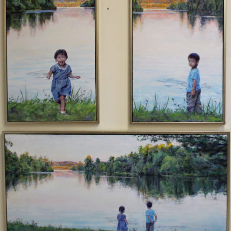Something Greater Is Here (tryptych) - 2015 • oil on canvas