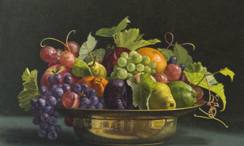 Surprenant-Fruit_Bowl_with_Grape_Leaves