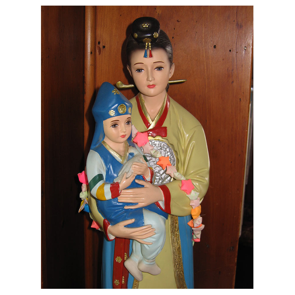 a statue of Our Lady of Korea