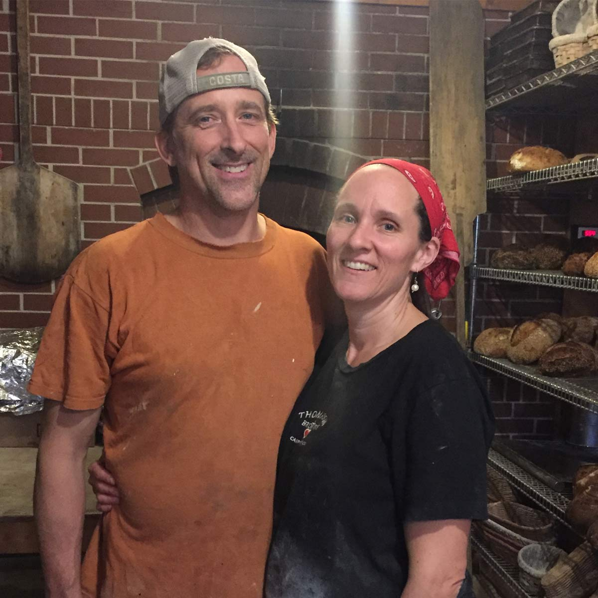 Charlie and Hilde in their bakery